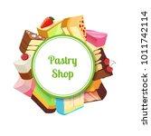 vector illustration for pastry... | Shutterstock .eps vector #1011742114