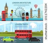 urban landscape of london.... | Shutterstock .eps vector #1011742204
