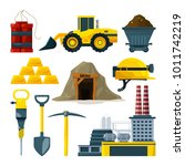 vector tools for gold mining... | Shutterstock .eps vector #1011742219
