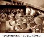 traditional romanian pottery | Shutterstock . vector #1011746950