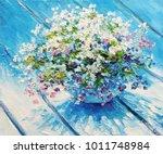 oil painting on canvas  still... | Shutterstock . vector #1011748984