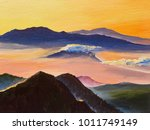 Oil Painting  Sunset In The...