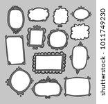 hand drawn frames | Shutterstock .eps vector #1011749230