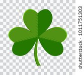 green leaf clover icon on... | Shutterstock .eps vector #1011751303