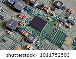 electronic circuit board close... | Shutterstock . vector #1011752503