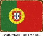 vintage metal sign   portugal... | Shutterstock .eps vector #1011754438
