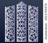 ornamental panels template for... | Shutterstock .eps vector #1011754573
