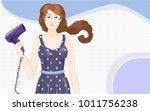 vector cartoon blue and ultra... | Shutterstock .eps vector #1011756238