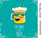 vector cartoon funky fresh beer ... | Shutterstock .eps vector #1011758746
