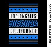 california. los angeles. retro... | Shutterstock .eps vector #1011761980