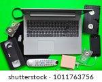 modern digital gadgets  storage ...   Shutterstock . vector #1011763756