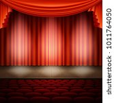 spotlight on stage and red... | Shutterstock .eps vector #1011764050