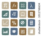 mathematics icons. grunge color ... | Shutterstock .eps vector #1011768634