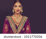 portrait of beautiful indian... | Shutterstock . vector #1011770206