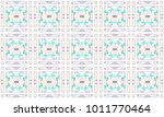 colorful mosaic seamless... | Shutterstock . vector #1011770464