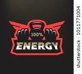 100  energy sports logo  on a...   Shutterstock .eps vector #1011771004