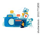 photography classes  courses ... | Shutterstock .eps vector #1011771850