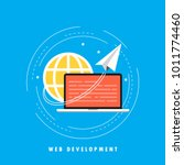 website development concept... | Shutterstock .eps vector #1011774460