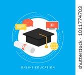 education  e learning  online...   Shutterstock .eps vector #1011774703