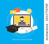 education  e learning  online...   Shutterstock .eps vector #1011774709