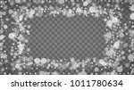 winter frame with white... | Shutterstock .eps vector #1011780634