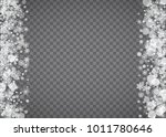 blizzard snowflake on... | Shutterstock .eps vector #1011780646