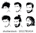 set of hairstyles for men.... | Shutterstock .eps vector #1011781414