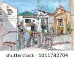 beautiful view of vietri sul...   Shutterstock . vector #1011782704