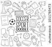 soccer football famous sport... | Shutterstock .eps vector #1011785473