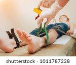 doctor with electrocardiogram...   Shutterstock . vector #1011787228
