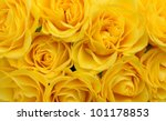 Close Up Of Yellow Roses On The ...