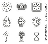 clock or watch icons thin line... | Shutterstock .eps vector #1011789250