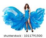 woman flying dress  elegant...   Shutterstock . vector #1011791500