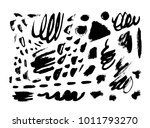 brush strokes isolated. ink ... | Shutterstock .eps vector #1011793270