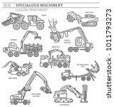 special industrial logging... | Shutterstock .eps vector #1011793273