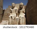 Statue Of King Tutankamun And...