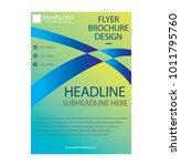 brochure  flyer  design   Shutterstock .eps vector #1011795760