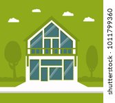 ecological clean green cottage. ... | Shutterstock . vector #1011799360
