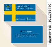 sweden flag color business card ...   Shutterstock .eps vector #1011799780