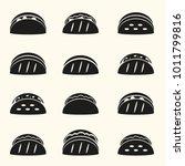 set of black tortilla tacos...   Shutterstock .eps vector #1011799816