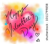 happy valentine's day card with ... | Shutterstock . vector #1011799858