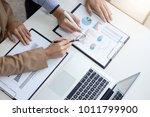 confident business leader ... | Shutterstock . vector #1011799900