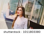 business woman angry boss... | Shutterstock . vector #1011803380
