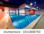 private swimming pool for... | Shutterstock . vector #1011808750