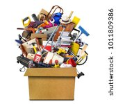 large pile of household things... | Shutterstock . vector #1011809386