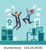 young and happy business people ... | Shutterstock .eps vector #1011814030