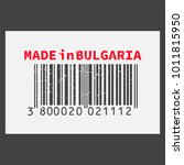 vector realistic barcode  made... | Shutterstock .eps vector #1011815950