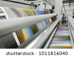 close up of an offset printing... | Shutterstock . vector #1011816040