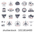 vintage hand drawn old fly...   Shutterstock .eps vector #1011816400
