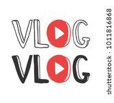 youtube video blog logo design... | Shutterstock .eps vector #1011816868